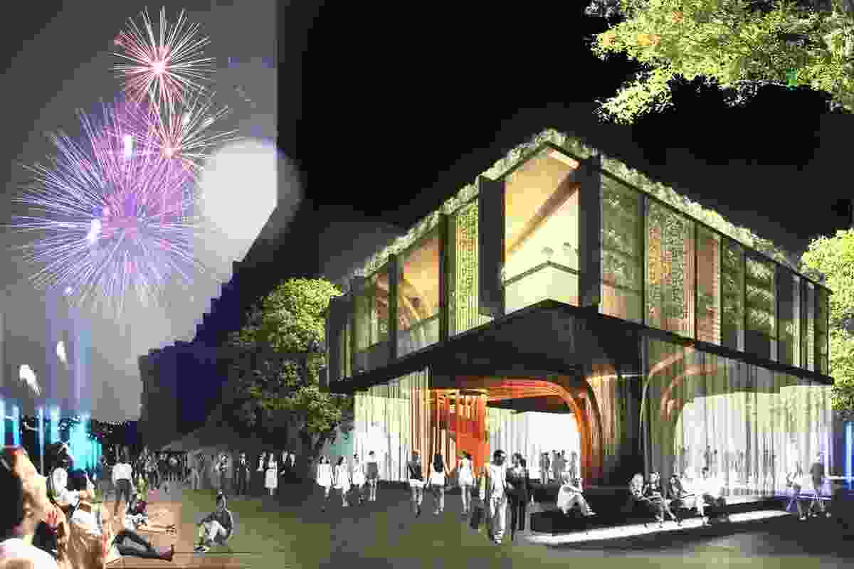 The judges commended Scale Architecture for its treehouse-like proposal.