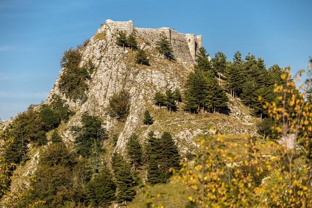The ruins of Italy's Castle of Roccamandolfi.