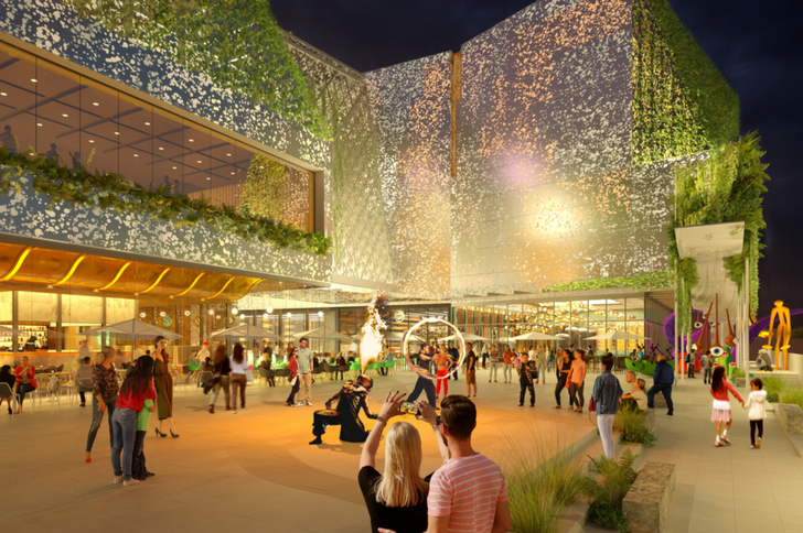 The redeveloped Macquarie Centre by NH Architecture and Hames Sharley.