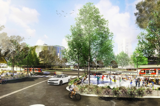 K2K proposal – Kingsford Circus by Aspect Studios Urban Design and Landscape Architecture, SJB Architects and Urban Design, Terroir Architecture and Urban Planning and SGS Economics and Planning.