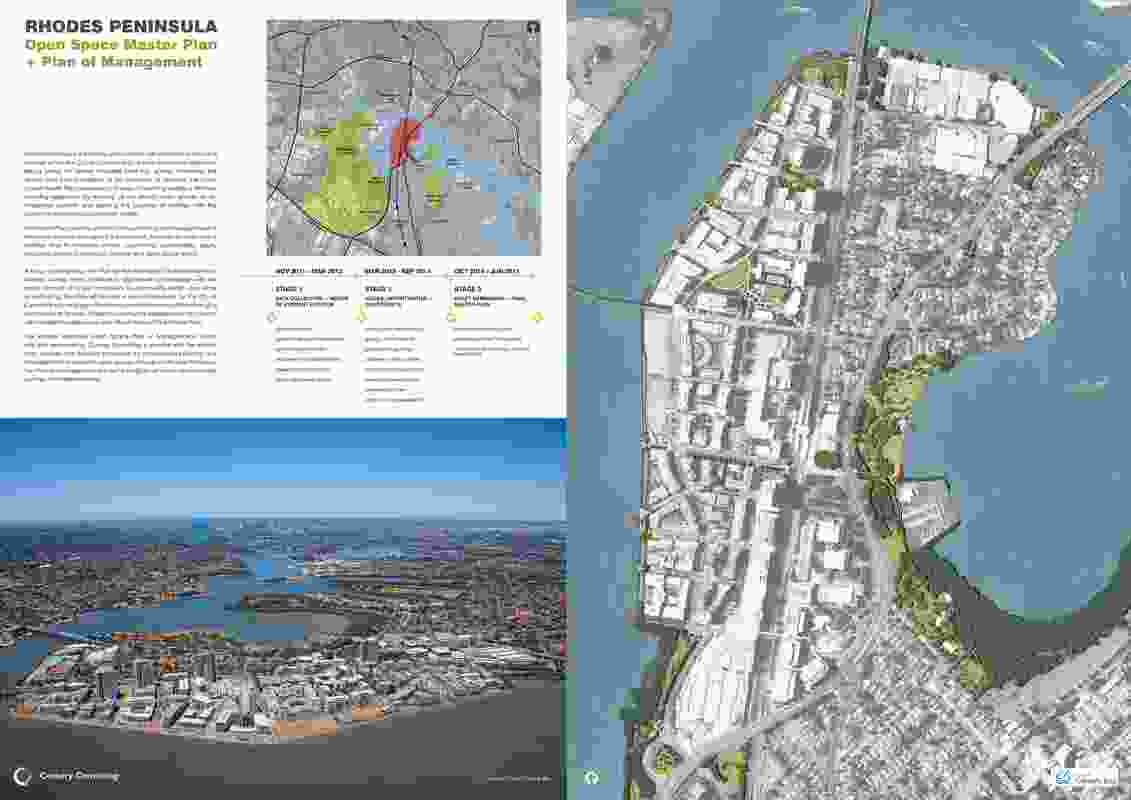 Rhodes Peninsula Open Space Maser Plan and Plan of Management by Corkery Consulting.