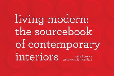 Detail from the cover of Living Modern: The Sourcebook of Contemporary Interiors by Phyllis Richardson.