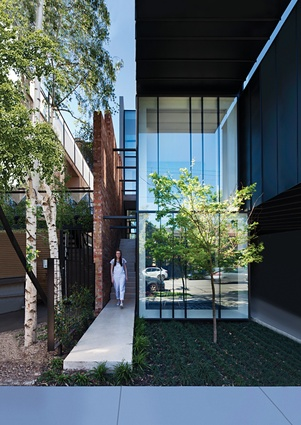 "Designed to house an extended family of seven to nine people, Mixed Use House is ""an adaptable and connected vertical home,"" that optimizes a formerly under-utilized infill site in Melbourne's St Kilda."