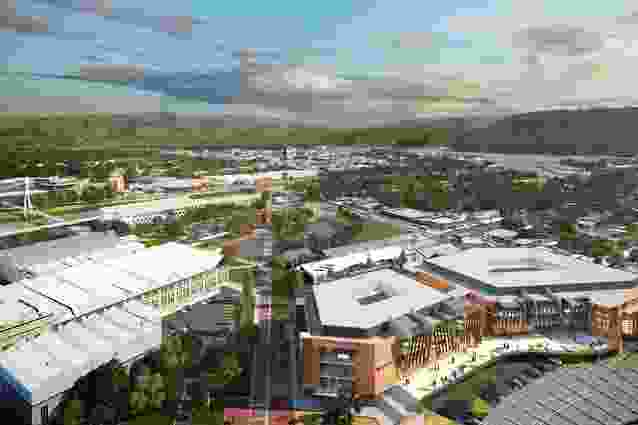 A view from Aurora Stadium of the plans for a four-storey building on the Inveresk site