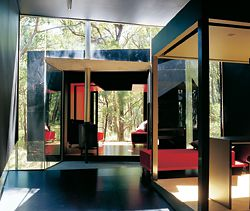 The Black House, Red Hill, Victoria, 2002, by David Luck Architecture. Photograph Catherine Tremayne.