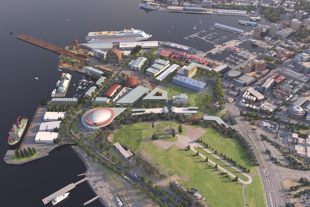 MONA's vision for the redevelopment of Macquarie Point designed by Fender Katsalidis and Rush Wright.