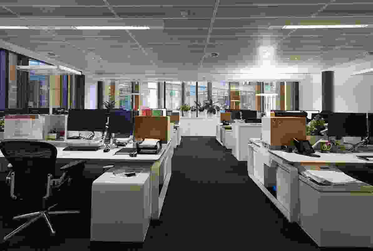 The studio's open plan makes the space appear larger than it is.