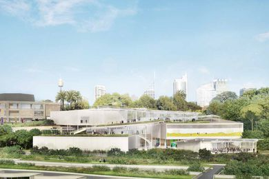 Revised design for the Sydney Modern Project by SANAA.