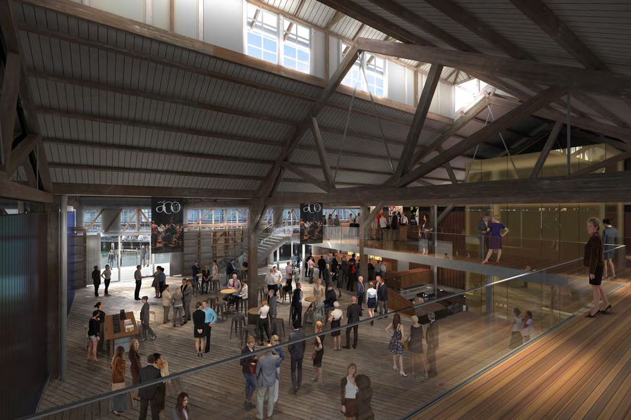 Central Foyer of the proposed Walsh Bay Arts Precinct redevelopment by Tonkin Zulaikha Greer.