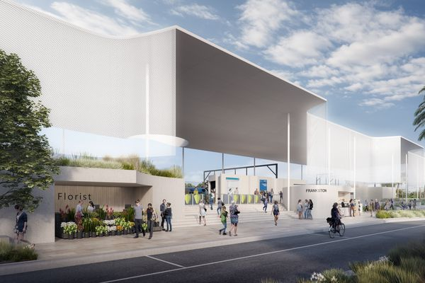 The competition-winning design for Frankston Railway Station by Genton Architecture.