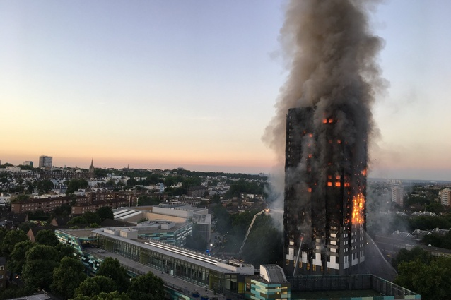 Flammable cladding is thought to have contributed to the spread of the fire at Grenfell Tower in London.