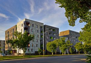 Allure designed by Jackson Clements Burrows, part of the Carlton Housing Redevelopment project launched in 2005.