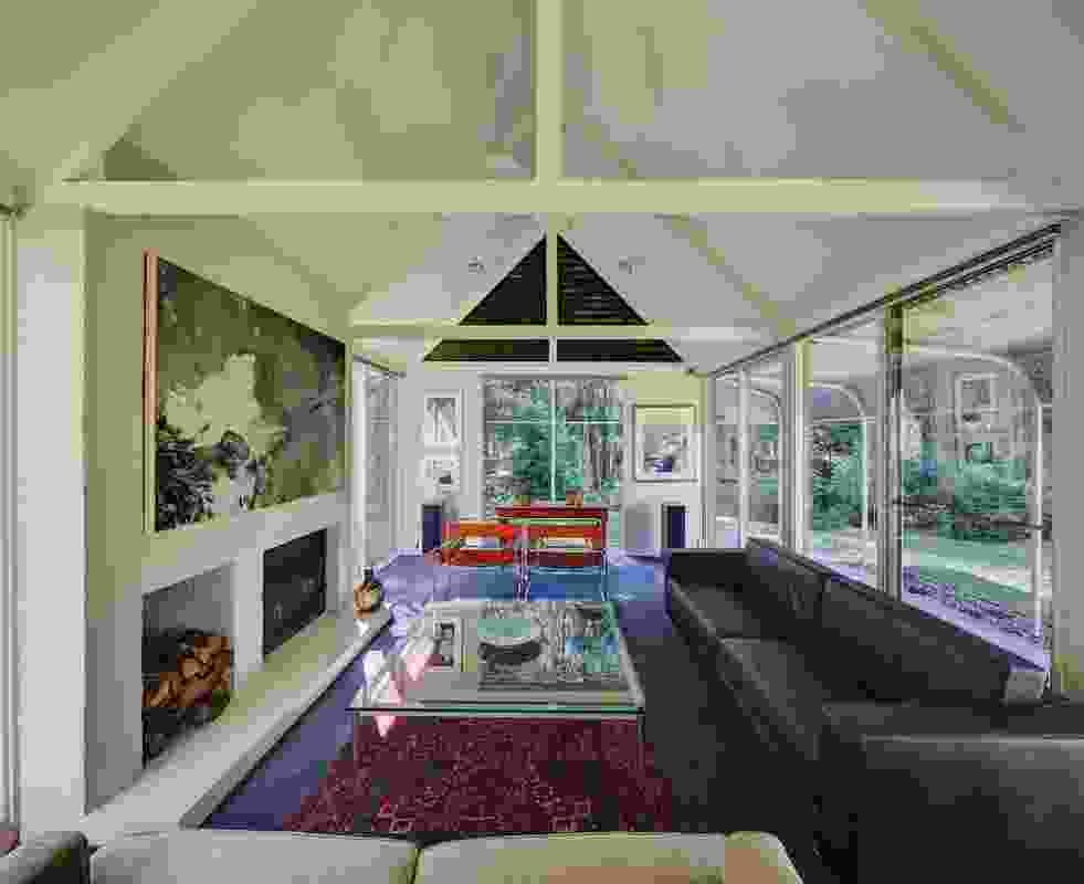 Each wing of the Hambrett House culminates in a serene sitting room.