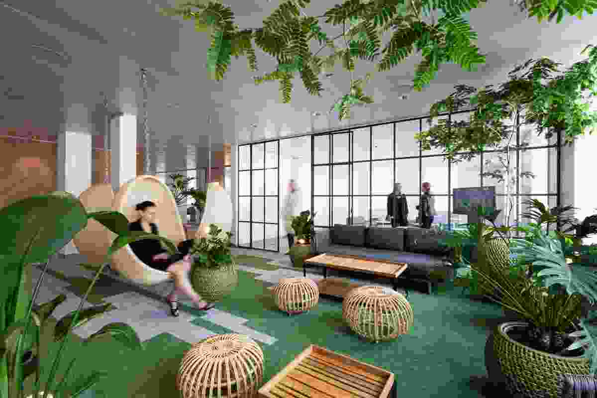 "A ""digital innovation centre"" in Denmark features an ""indoor garden"" for recharging and changing the pace of the workday."