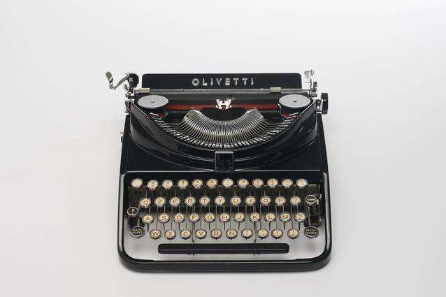 The 1932 Olivetti ICO MP1 (Modello Portatile 1) Typewriter designed by Aldo Magnelli and Riccardo Levi.