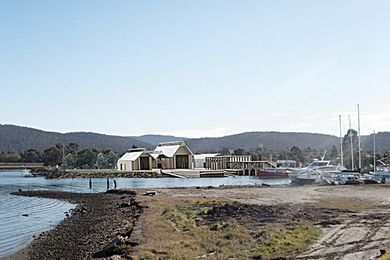 Atelier Spring Bay: maritime workshops + exhibition space, Triabunna, Tasmania by Sam Bresnehan, University of Tasmania