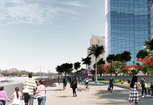 A concept for the riverfront presented in the City Reach Waterfront Masterplan.