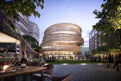 The Darling Exchange, Kengo Kuma and Associates' first Australian project, and urban square by Aspect Studios.