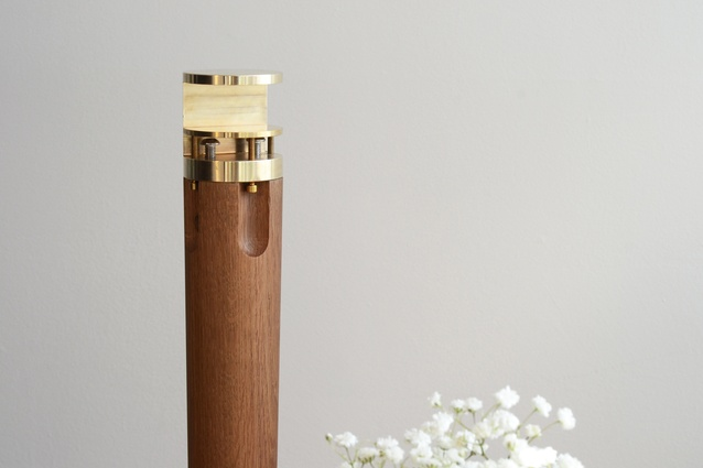 Tabl by Nick Flutter is made from solid brass and oak.