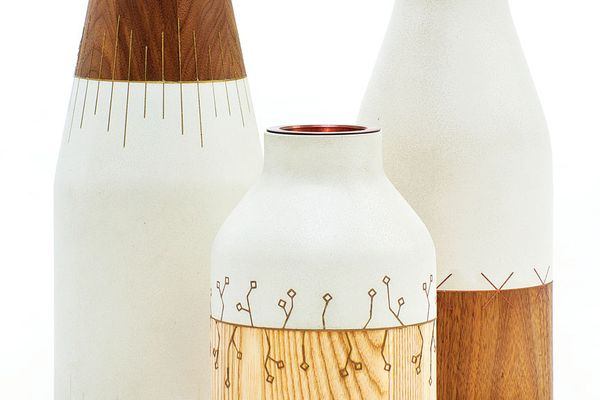 A set of vessels designed by Matthew Sheargold and named after and inspired by the Japanese technique of kintsugi.