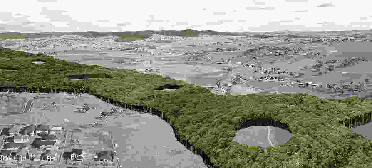 Other Architects' Burial Belt project proposes the reoccupation of cleared and degraded land previously used for livestock for the purpose of natural burial. The price of burial funds the reforestation of the area, repairing the native landscape.