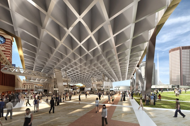 NH Architecture: New concourse and urban green.