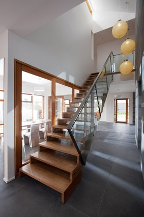 Glazing is used internally, to allow natural light to flow through all the interiors.