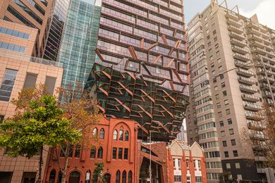 The 271 Spring Street tower designed by John Wardle Architects.