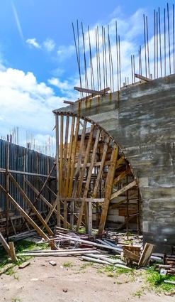 La Plage du Pacifique in Vanuatu under construction.