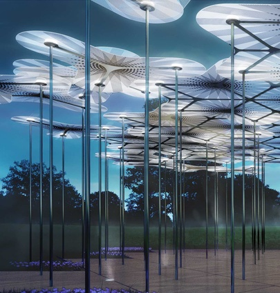 The second MPavilion will inhabit Melbourne's Queen Victoria Gardens over the spring and summer months.