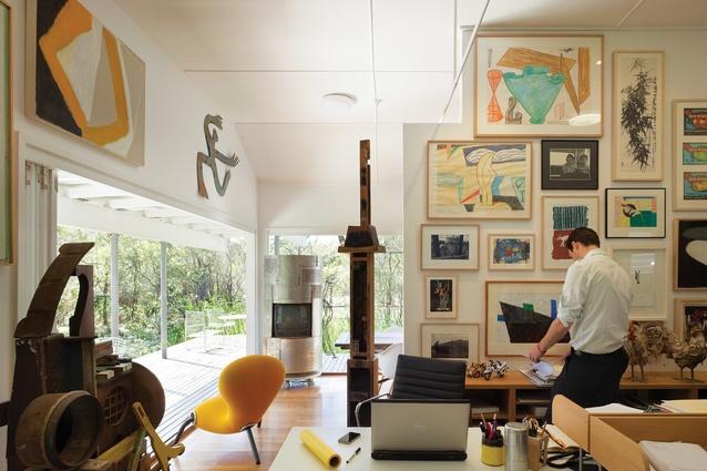Project Director William Ellyett in the studio.