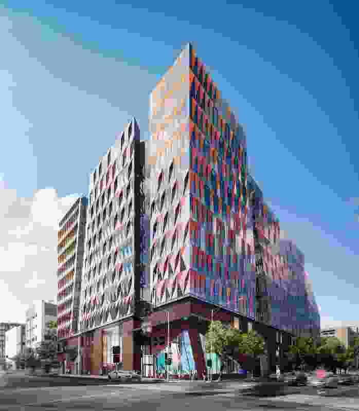 The proposed Carlton Connect precinct by Woods Bagot will comprise five connected buildings.