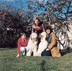 The family, Franca, Tanja and Tabitha Taglietti, 1973.