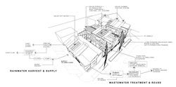 Technical axonometric from the entry by Third Ecology (Vic), which recieved a commendation.