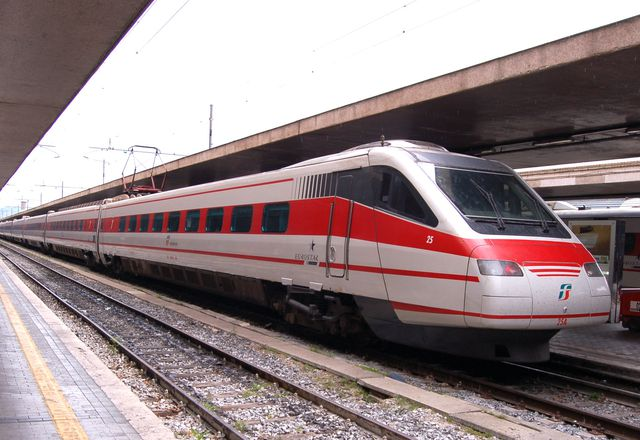 Italy's high speed train in Rome.