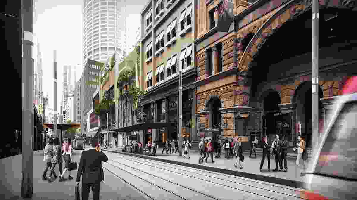 Design of the Sydney CBD and South East Light Rail stop at Wynyard by Grimshaw Architects.