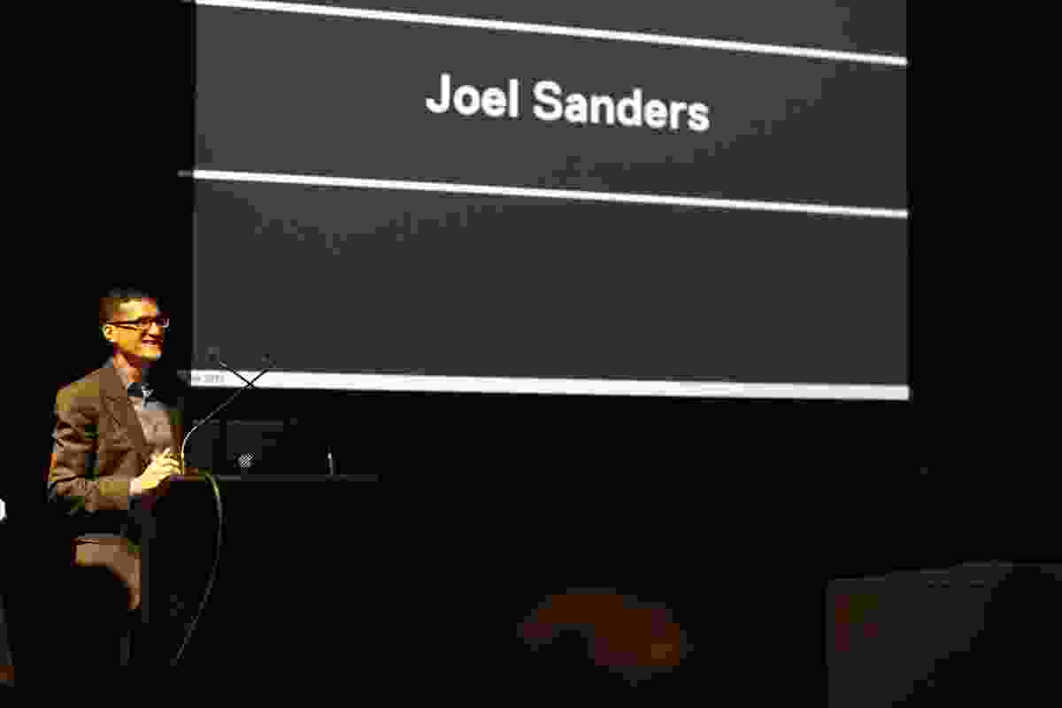 Joel Sanders delivered the keynote lecture at the Audio Architecture symposium where he talked about the need for architects to be more attuned to the aural world.