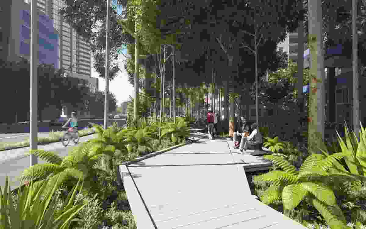 The proposed Southbank park by the City of Melbourne's City Design Studio.