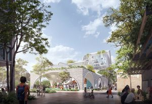 Durbach Block Jaggers's winning design for Penrith City Council's Soper Place development.