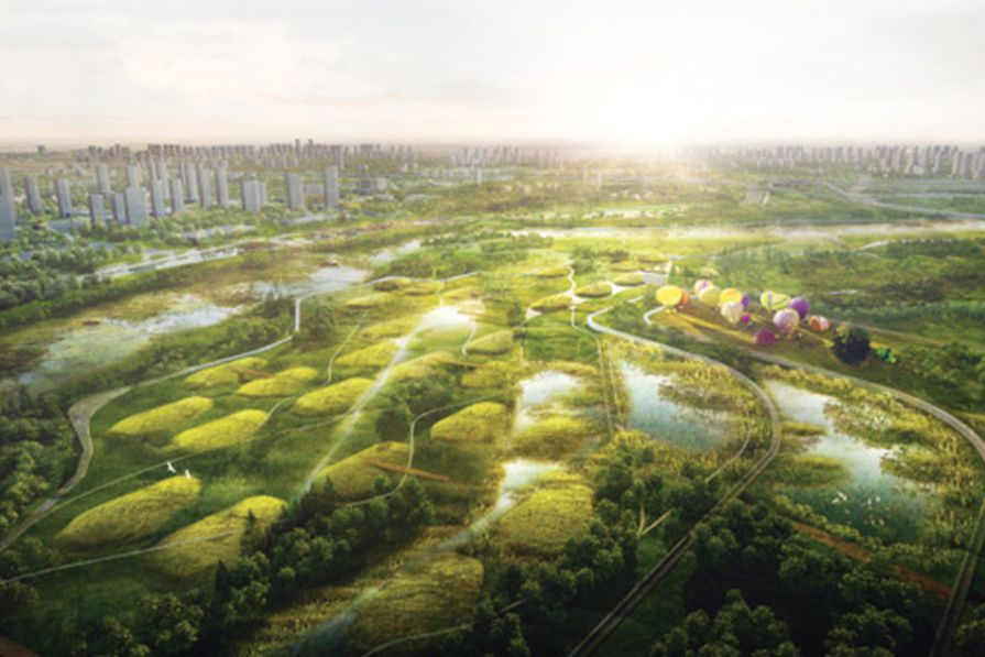 Led by Australian designers, Gossamer is proposing projects like the Jing River waterfront that celebrate the site's history while also emphasizing the vitality of good design.