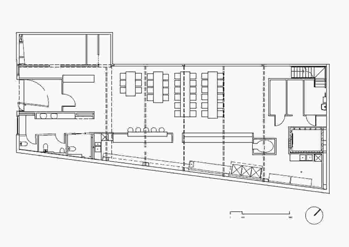 Plan of Garagistes by Paul Johnston Architects.