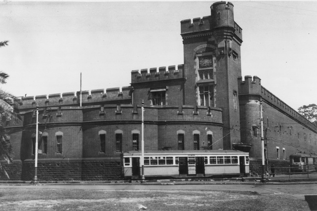 Fort Macquarie tram depot, rear view, date unknown.