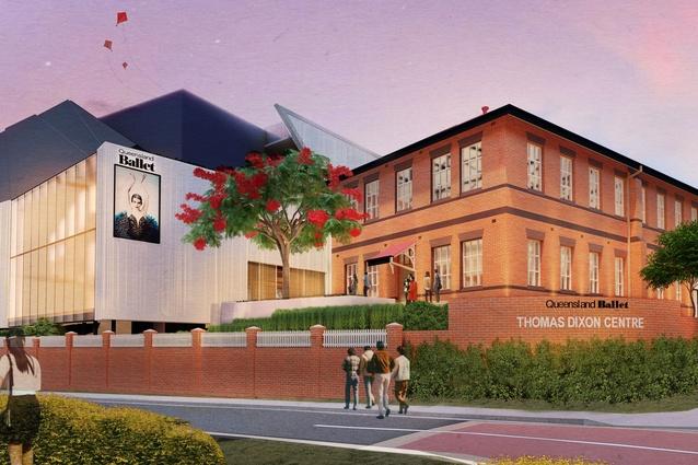 Preliminary design of the redeveloped Thomas Dixon Centre by Conrad Gargett.
