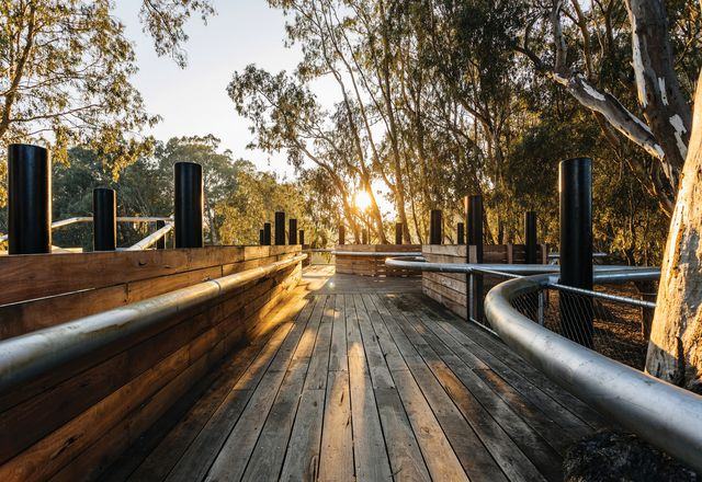 Robust local timbers will silver over time to reflect the hues of the surrounding eucalypts.