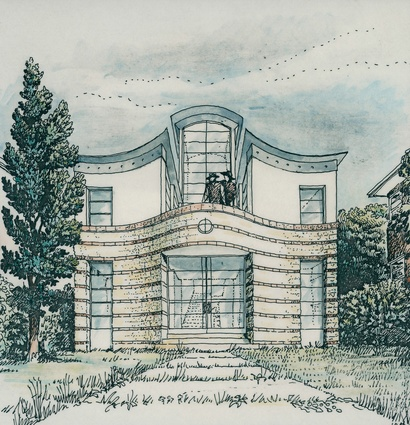 An original sketch of Cammeray House.