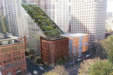 The 430 Pitt Street building, designed by BVN.
