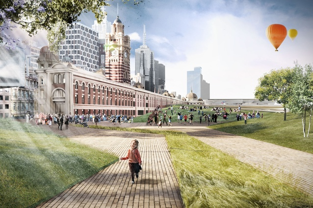 John Wardle Architects + Grimshaw: Elevated park.