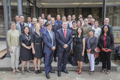 NSW State Design Review Panel members with planning minister Anthony Roberts.
