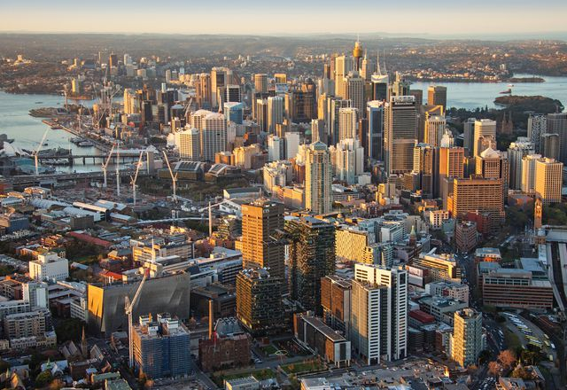 The Greater Sydney Commission has outlined a three-cities approach for Sydney's future: Eastern City, centred on the CBD; Central City, centred on Parramatta; and Western City, centred around a new airport in the west.