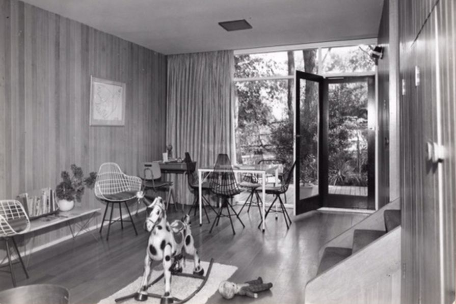 The children's room in the Le Lievre family home in Mount Waverley, Victoria, mid-1960s.
